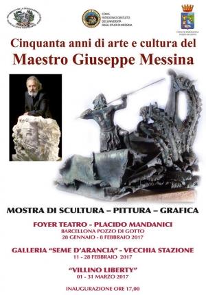 Barcellona P.G.(Me) 28 gennaio 2017 - ore 17 inaugurazione  della mostra di scultura - pittura e grafica del Maestro Giuseppe Messina