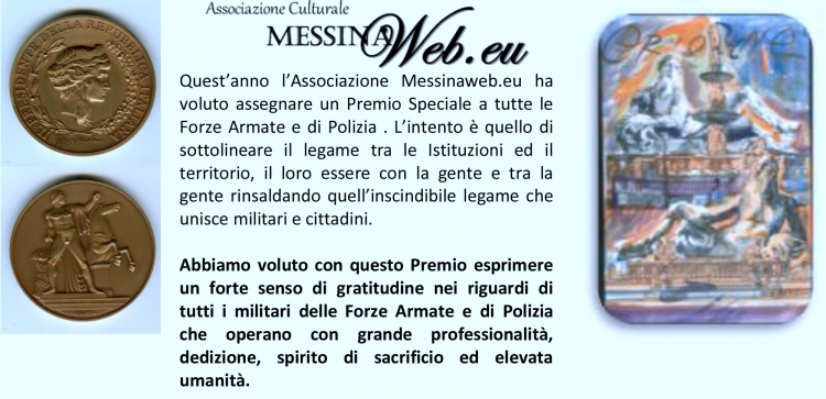 PREMIO SPECIALE ORIONE conferito all' Ispettore Superiore della Polizia Provinciale Santa Perdichizzi.