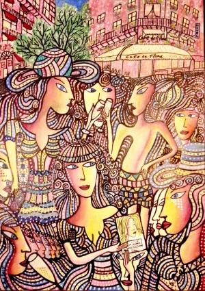 THIERRY PAUL VALETTE - Intervista  del critico Maria Teresa Prestigiacom Al pittore vincitore del  Saint Germain de Pres