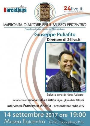 Barcellona Pozzo di Gotto:  Giuseppe Puliafito all'Epicentro di Gala per l'Impronta d'Autore