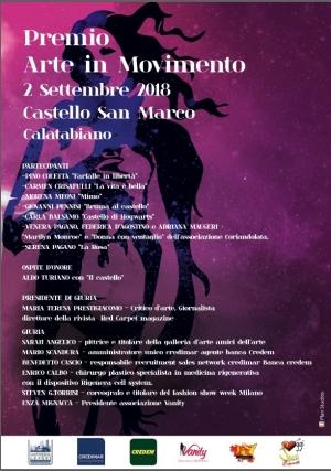 La danza interpreta l 'arte arte in movimento con il critico Maria T . Prestigiacomo. Nella reggia del Principe di Palagonia Hotel Castello San Marco charming & SPA di Calatabiano