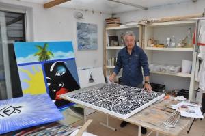 Personale di Jean Claude Fournier, con le sue opere, nella capitale italiana In una nota Galleria del Centro