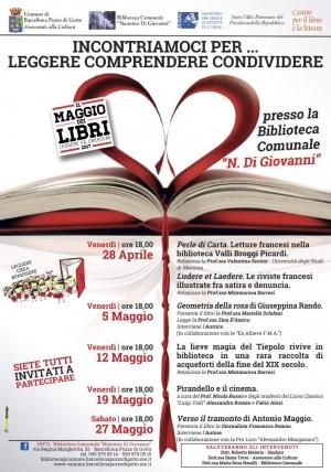 """""""Il Maggio dei Libri"""" alla Biblioteca Comunale di Barcellona Pozzo di Gotto"""