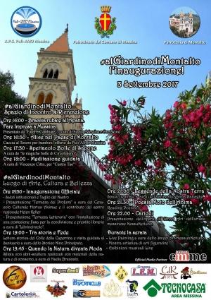 Inaugurazione del Giardino di Montalto il 3 settembre