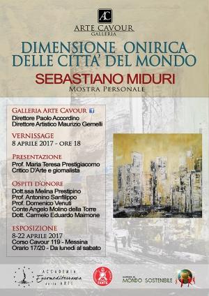 Mostra Personale di Sebastiano Miduri Dimensione onirica delle città del mondo