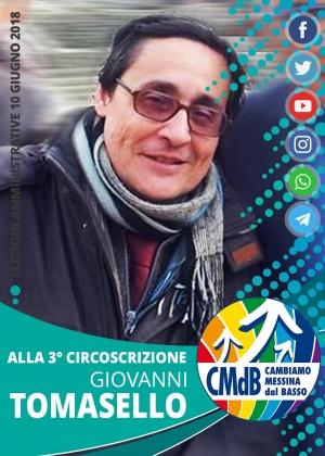 Elezione amministrative - 10 giugno 2018 - alla 3* circoscrizione GIOVANNI TOMASELLO