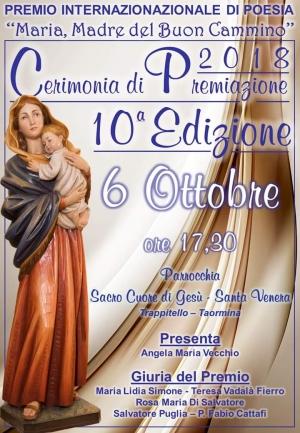 """Premio Internazionale di Poesia """"Maria, Madre del Buon Cammino"""" X Edizione"""