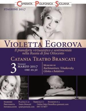 STAGIONE 2017 - Venerdì 3 marzo ore 20.30 Il Teatro Brancati  a Catania presenta Violetta Egorova