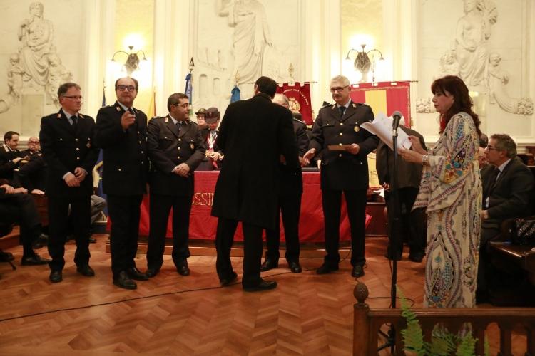 PREMIO ORIONE SPECIALE 2017 - Attestato di Benemerenza conferito ai Componenti del Corpo di Polizia  della Città Metropolitana di Messina
