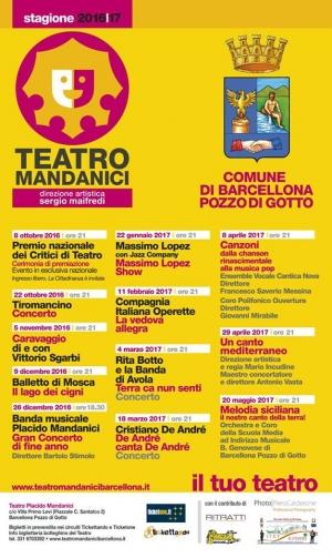 I Premi nazionali della critica teatrale l'8 ottobre al Teatro Mandanici di Barcellona Pozzo di Gotto.