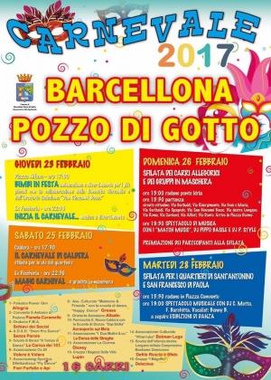 Sedici carri per il Carnevale di Barcellona Pozzo di Gotto