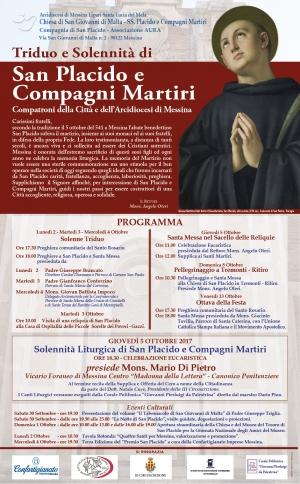 Messina fa memoria del martirio di San Placido e Compagni