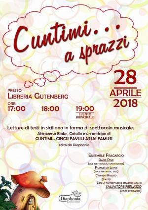 Barcellona Pozzo di Gotto: letture di Francesco Lipari e musiche di Dario Pino alla libreria Gutenberg