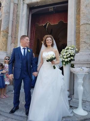 Matrimonio a Taormina del giornalista Sarò Lagana e Barbara Pasquale