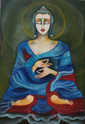 Un festival del Tibet a Sant' Alessio Siculo Con le opere della nota  pittrice moldava Gavri