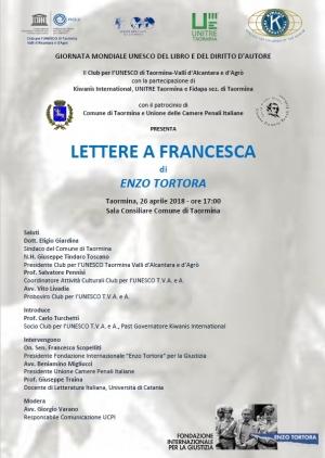 IL CASO TORTORA NEL LIBRO PRESENTATO A TAORMINA IL 26 APRILE CON IL NOTO AVV. GIORGIO VARANO