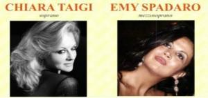 Due  splendide  perle del bel canto lirico: il soprano  d'eccellenza :Chiara Taigi e Il mezzo soprano Emy Spadaro Cconcerto di Pasqua  in Cattedrale