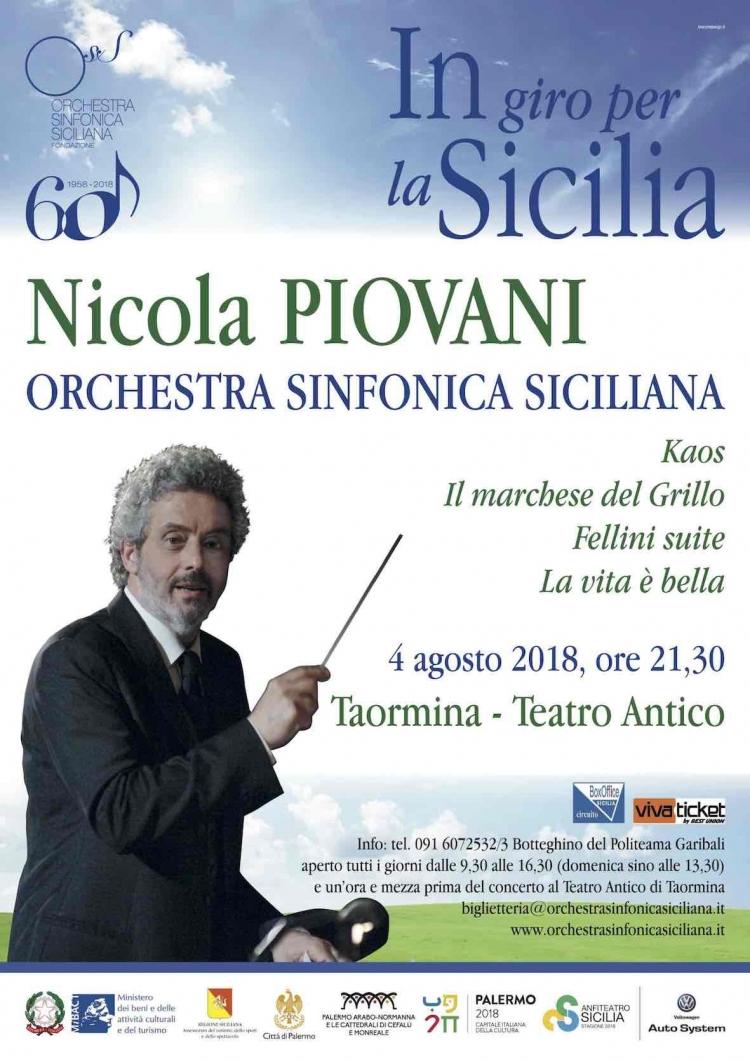 Piovani a Taormina. Il noto maestro delle più belle sonore di Film al Teatro Antico il 4 agosto