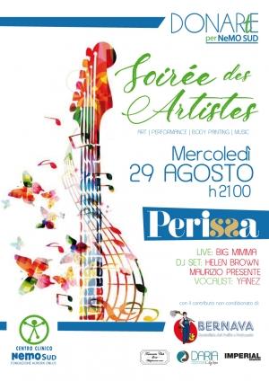 """La """"Soirèe des Artistes"""" per il NeMO SUD. Al Perissa, il terzo appuntamento con DONARtE."""