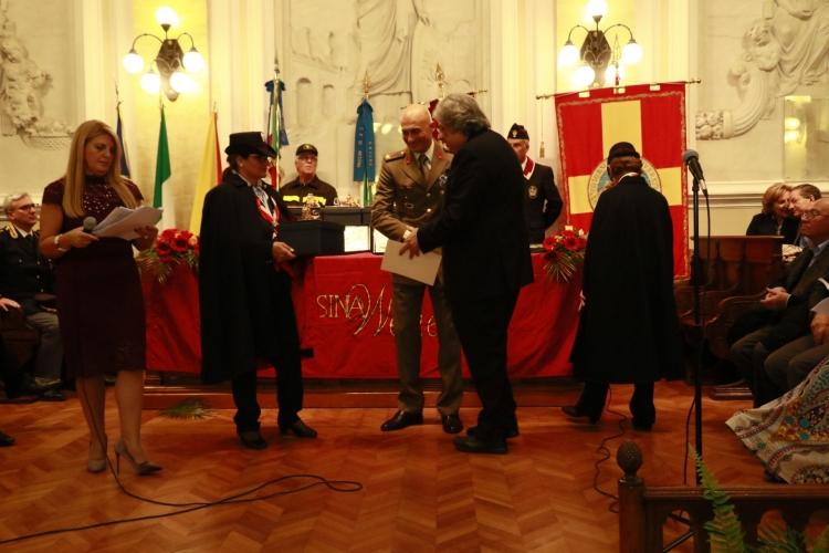 """PREMIO ORIONE SPECIALE 2017 conferito  al 5° Reggimento Fanteria Meccanizzata  """"Aosta"""" di stanza a Messina comandata dal Colonnello Roberto Vergori."""