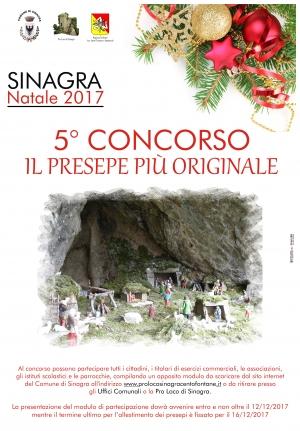 SINAGRA: NATALE 2017, 5° CONCORSO - IL PRESEPE PIÙ ORIGINALE.