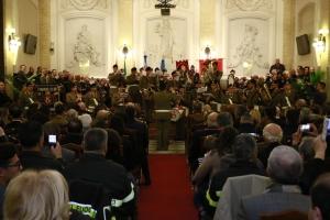 """PREMIO ORIONE 2017 - Ringraziamento ai signori componenti la  Banda musicale della Brigata  Meccanizzata """"Aosta"""""""