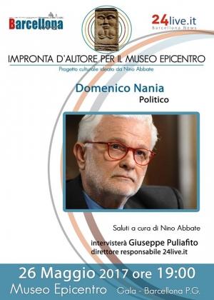 """Barcellona Pozzo di Gotto: Carlo Mercadante e Domenico Nania  a """"Impronta d'autore per il Museo Epicentro"""""""