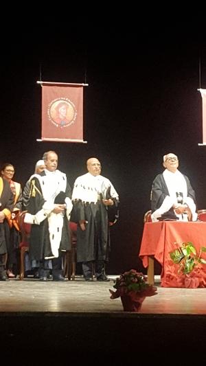Il magnifico rettore dell Universita degli Studi di Messina all' inaugurazione dell' anno accademico dell' Università degli Studi Dante Alighieri di Reggio Calabria
