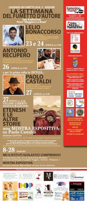 """Barcellona Pozzo di Gotto: """"Fumettomania"""" presenta la quinta edizione della Settimana del fumetto d'autore"""