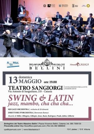 TEATRO SANGIORGI : Domenica 13 maggio ore 19.00 'Swing & Latin, jazz, mambo, cha cha cha...'