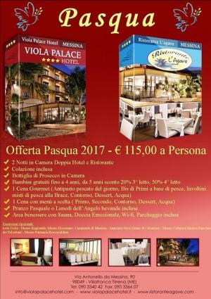 "Viola Palace Hotel, Villafranca Tirrena - Messina ""Offerta Pasqua 2017 """