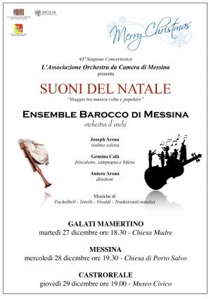 """Messina - concerto I suoni del Natale """"Viaggio tra musica colta e popolare""""."""