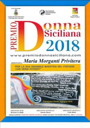MARIA MORGANTI  PRIVITERA. La poetessa barcellonese eletta Donna Siciliana dell'anno 2018