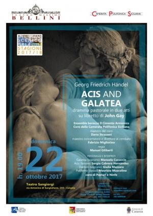 Inaugurazione Stagione Teatro Sangiorgi  a Catania La Musica colta ma per tutti i gusti Acis and Galatea