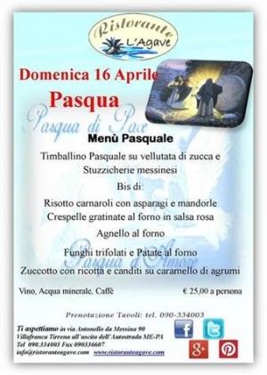 """Villafranca Tirrena (Me) - Ristorante Agave """"Pasqua & Pasquetta 2017"""""""