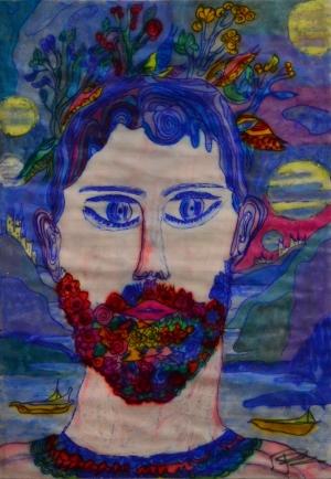 Un dipinto di Paolo Pellegrino che sarà esposto a Roma il 31 Marzo in una  nota Galleria del centro