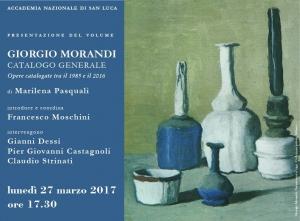 L'Accademia Nazionale di San Luca  presenta il volume Giorgio Morandi   Catalogo generale  Opere catalogate tra il 1985 e il 2016