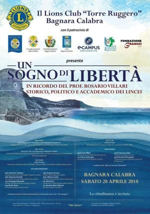Doveroso tributo alla memoria del noto  prof Villari a Bagnara Calabra il 28 aprile.