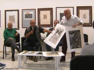Barcellona Pozzo di Gotto: inaugurata la mostra di cento incisori nel Museo Didattico Foscolo. L'artista Togo dona sue opere al Museo.