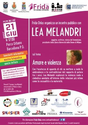 Lea Melandri a Messina Palazzo Zanca  22 Giugno