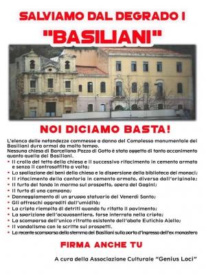 Raccolta di firme per la salvaguardia dei Basiliani di Barcellona Pozzo di Gotto