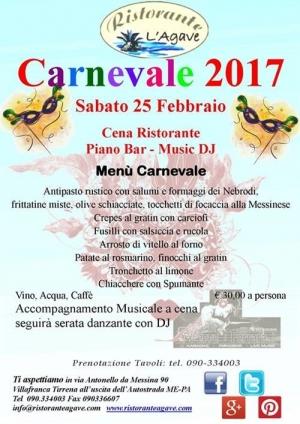 """Villafranca Tirrena(Me)  - Carnevale 2017 al Risto l'Agave """"Viola Palace Hotel"""""""