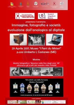 Seminario: Immagine, fotografia e società: l'evoluzione dall'analogico al digitale