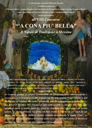 """Bandito il VIII Concorso """"'A Cona più bella"""". Il Natale di Tradizione a Messina"""