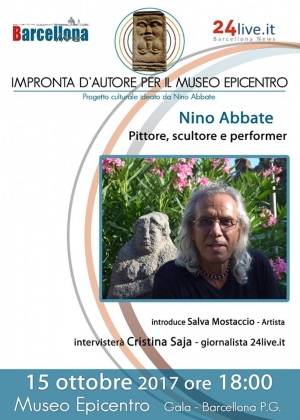 """Barcellona Pozzo di Gotto: Nino Abbate protagonista dell'ultimo appuntamento di """"Impronta d'autore"""" all'Epicentro di Gala"""