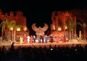 Mythos Opera Festival a Taormina: boom di presenze per Aida - La Casolla la più applaudita della serata di Aida al Teatro Antico