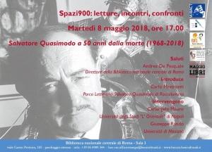 Il Prof. Pippo Rando a Roma per Quasimodo.