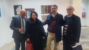 Mostra d'Arte Primo Passo verso la casa degli artisti Sotto l'Egida di TRISCHITTA SINDACO nel Foyer del Palacultura il 17 e 18 marzo a Messina