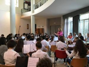 """L'Orchestra della Scuola Media """"Bastiano Genovese"""" di Barcellona Pozzo di Gotto premiata a Taormina"""
