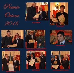 CONCLUSASI CON SUCCESSO LA CERIMONIA DI CONSEGNA DEL PREMIO ORIONE 2016